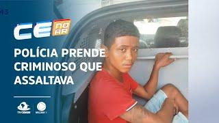 Polícia prende criminoso que assaltava com uma tesoura