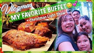 Vlogmas 2018: Our Favorite Buffet + Ayala Triangle Christmas Lightshow | HungreeCatt Vlogs
