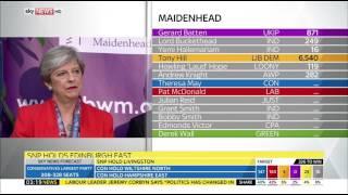 Sky News HD | Theresa May Holds Maidenhead Seat June 2017