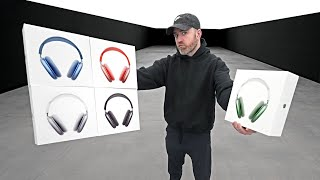 AirPods Max Unboxing Every Color (Space Gray, Silver, Sky Blue, Green, Pink)