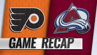 Wilson, Johnson lift Avalanche past Flyers, 5-2