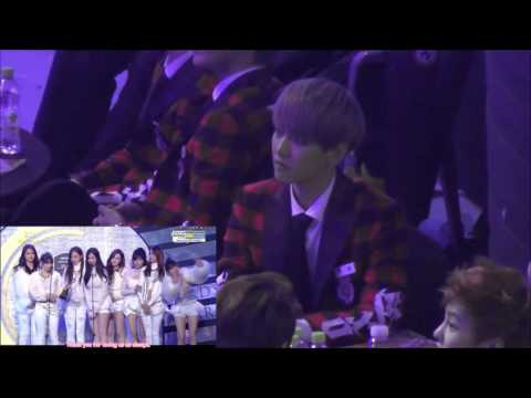 140123 SMA Baekhyun Focus Reaction to SNSD Gaon Chart Speech