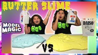 1 GALLON OF BUTTER SLIME VS 1 GALLON OF BUTTER SLIME - MAKING GIANT BUTTER SLIME