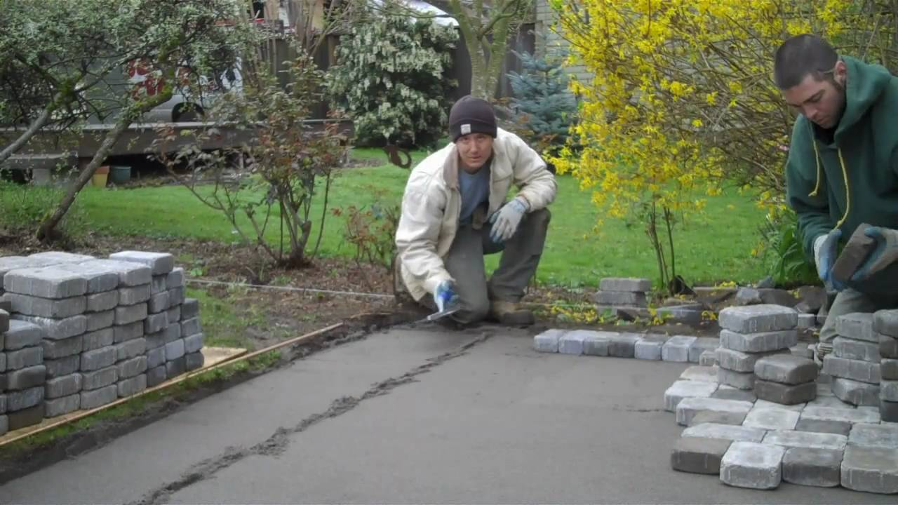Installation Of A Paver Patio Youtube