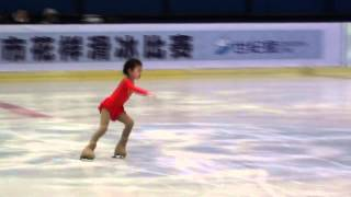 Nini An, 5 years old super figure skater!  Free skating Beijing FS Cham 2012