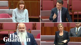 Emotional scenes in Senate over Newstart rise with one Liberal senator breaking ranks
