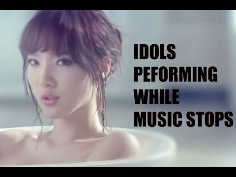 Kpop Idols Performing While Music Stopped