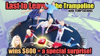 Last to Leave the Trampoline WITH Temptations WINS $600 CASH!