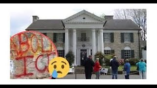 Priscilla Presley got the news Tuesday the walls surrounding Graceland was VANDALISED with GRAFFITI.