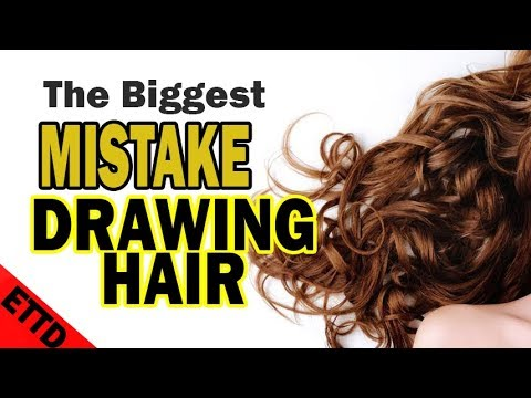 AMAZING Hair Drawing Tips – Easy stuff to draw