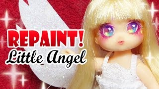 Repaint! Christmas Angel Doll Custom Little Mimi OOAK 리틀 미미 천사 리페인팅
