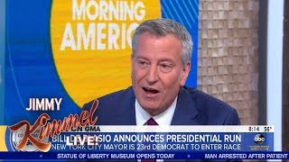 New York Mayor Bill de Blasio Running for President