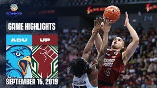 AdU vs. UP - September 15, 2019    Game Highlights   UAAP 82 MB