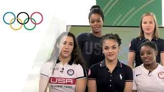 How well do USA's golden gymnasts know each other?