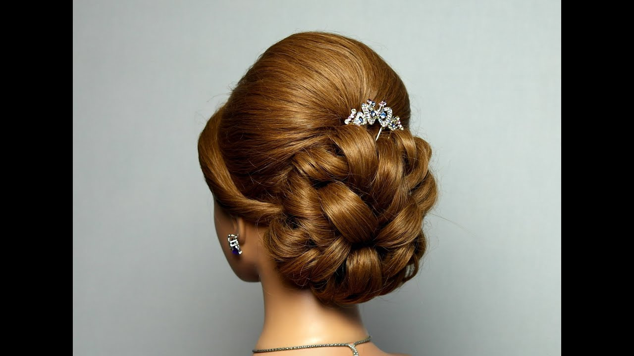 40 Gorgeous Wedding Hairstyles For Long Hair: Wedding Prom Hairstyle For Long Hair. Bridal Updo.