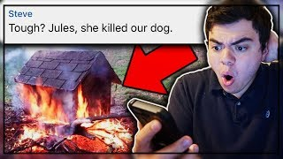 """LITTLE GIRL SETS DOG ON FIRE!?! PROOF WITH PHOTOS! 