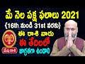 May Rasi Phalalu   16th May to 31st May   Mesha Rashi 2021   Nanaji Patnaik   Pooja Tv Telugu