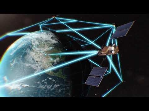 TMGcore animation of proposed solution for AFWERX creating a ground-based infrastructure network that connects into space assets and beyond.