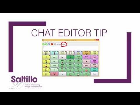 Chat Editor Tips