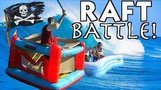 PIRATE SHIP RAFT BATTLE!