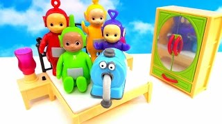 Five little TELETUBBIES jumping on the bed I Nursery Rhyme Song I किशोरी बिस्तर पर कूद