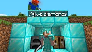 Minecraft Speedrunner VS Hunter But I Secretly Use /Give...