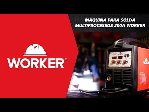 Máquina para Solda Multiprocessos 200A Worker - Vídeo explicativo