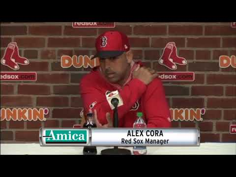 Amica Alex Cora Red Sox vs. Rockies Pre-Series Press Conference 05/14