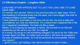 A J Hoge - 2.4 Effortless English – Longtime Affair