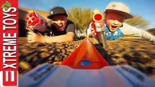 Mission Protect the Hot Wheels Toy Car! Ethan and Cole Bunkr Nerf Mayhem!