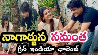 Samantha accepts Nagarjuna's Green India Challenge..