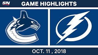 NHL Highlights | Canucks vs. Lightning - Oct. 11, 2018