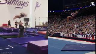 #TeamUSA Triple Double Takes | Simone Biles & Jade Carey