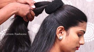 Unique hairstyles for Long Hair Girls || Pretty look Hairstyles || Hair style girl #bunhairstyles