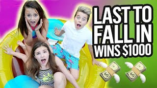 LAST TO FALL IN THE POOL**FREEZING** ❄️❄️ WINS $10,000 CHALLENGE   Gavin Magnus ft. Piper & Friends