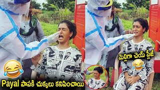 RX 100 fame Payal Rajput cries during COVID-19 test..
