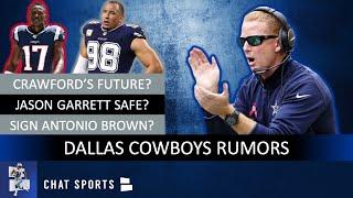 Cowboys Rumors: Jason Garrett Safe? Signing Antonio Brown? Tyrone Crawford's Future? Offense Issues?