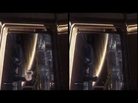 Alien Isolation Oculus Rift DK2 Zeiss Head Tracking TriDef 3D: part 4: the one with the Alien
