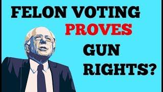 Bernie Sanders Wants FELON VOTING and proves GUN RIGHTS at CNN Town Hall