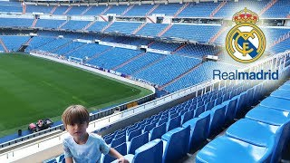 REAL MADRID Stadium  - Santiago Bernabeu Tour #1   Family Fun Trip