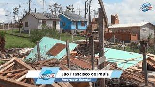 Tragédia e destruição em São Francisco de Paula
