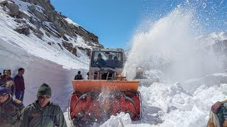 Snow packed Manali-Leh road opens up for tourists..