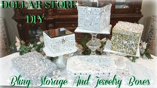 DIY DOLLAR STORE BLING STORAGE AND JEWELRY BOXES DIY DOLLAR TREE HOME DECOR