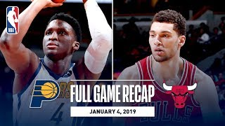 Full Game Recap: Pacers vs Bulls | Oladipo and LaVine Trade Clutch Buckets