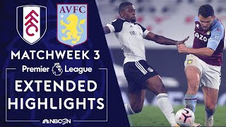 Fulham v. Aston Villa   PREMIER LEAGUE HIGHLIGHTS   9/28/2020   NBC Sports