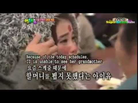 (eng sub) IU crying because of her grandmother (heroes cut ep25)