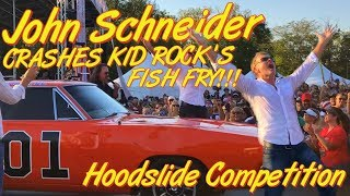 JOHN SCHNEIDER CRASHED KID ROCK'S GENERAL LEE HOOD SLIDE COMPETITION!!! (CM40 Vlog)