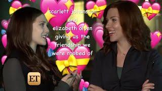 scarlett johansson and elizabeth olsen giving us their friendship for 1 min 25 secs straight