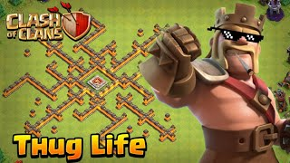 Strange Player - Thug Life Of Barbarian King In Clash Of Clans - Funny Moment In COC