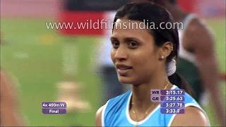 Indian women win Gold! Women's 4x400m relay race in India: Commonwealth Games